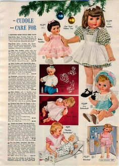 1961 ADVERTISEMENT Doll Betsy Wetsy Baby Toodles Butterball Vogue Baby Dear