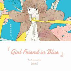 Girl friend in Blue