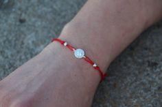 Mini Circle Zircon Bracelet Silver Macrame by GozdyJewelry on Etsy