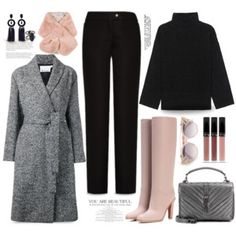Classic Gray Wrap-Waist Coat...