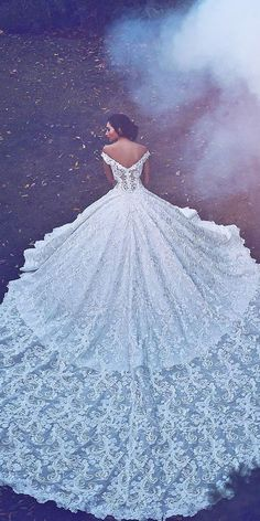 Follow @ppandastore   Romantic Off The Shoulder Wedding Dresses ❤ See more: http://www.weddingforward.com/off-the-shoulder-wedding-dresses/ #weddings