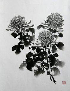 Sumi-e Chrysanthemum