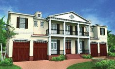 ePlans Colonial House Plan – Deluxe Plan With Neoclassical Appeal – 5076 Square Feet and 6 Bedrooms from ePlans – House Plan Code HWEPL77098