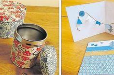 Les papiers japonais aux motifs variés permettent de donner du style à des objets tout simples.