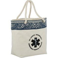 Americana bandana cotton tote (Minimum order of 24 7-day at $8.74 each plus $75 setup fee) | rushIMPRINT