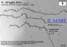 Il Mare. Cripta di San Michele Arcangelo - http://www.canalearte.tv/news/il-mare-cripta-di-san-michele-arcangelo/