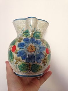 A personal favorite from my Etsy shop https://www.etsy.com/uk/listing/249476114/vintage-lavorato-dipinto-a-mano-pottery