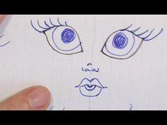 Como pintar la cara de las muñecas de una manera sencilla | Patrones gratis
