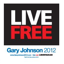 Vote for Gary Johnson! All it takes is 5% of the voters to end the two party system! (Democrats vs. Republicans)