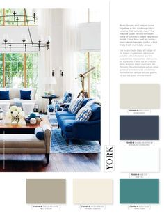 Blues, beiges and taupes come together in this soothing colour scheme that reminds me of the massive Tudor Revival homes in some of Toronto's oldest neighbourhoods. I love how well my hometown blends new and old for a look that's fresh and totally unique. #BeautiTone #StyleAtHome