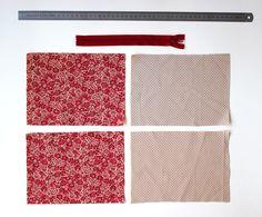 DIY pas à pas : jolie pochette en tissu Diy Pochette, Coin Couture, Diy Clothes Videos, Creation Couture, Bag Patterns To Sew, Pinterest Blog, Sewing Projects, Patches, Embroidery