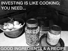 Investing is like Cooking – An Investing Guide for a Good Recipe - The Dividend Guy Blog Financial Markets, Nespresso, Coffee Maker, Investing, Good Food, Guy, Cooking, Blog, Recipes