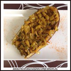 Berenjenas rellenas al curry con semillas de amapola