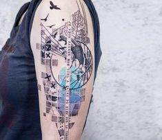 Lineart and Dotwork tattoo by Koit Tattoo