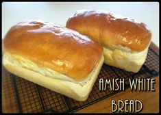 Amish White Bread - I make this bread once to twice a week. its a great basic almost no fail bread! I've been making this since early its a very rare thing for me to buy a loaf from the store (unless I'm s. Amish White Bread, Homemade White Bread, Amish Recipes, Cooking Recipes, Homade Bread Recipes, No Fail Bread Recipe, Easy Sandwich Bread Recipe, Simple Bread Recipe, Gastronomia