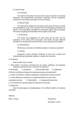 Final demo tle 4a's Lesson Plan, Teacher Lesson Plans, Lesson Plan Templates, Lp, Student, How To Plan, Lesson Planning Templates