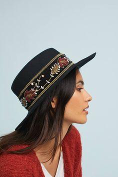 eaab87d716146 Beaded Boater Hat