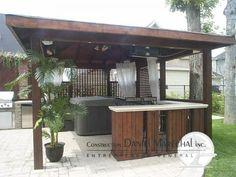 am nagement ext rieur autour d 39 un spa lounge salon coin repas terrasse spa pinterest. Black Bedroom Furniture Sets. Home Design Ideas