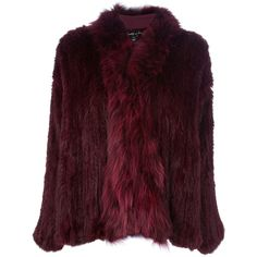 ELIZABETH AND JAMES Rabbit fur coat ($1,270) found on Polyvore
