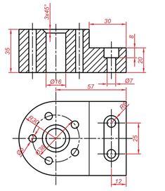 Teknik Resim Görünüş Çıkarma Örnekleri. Örnek Çizimler   Makine Eğitimi Mechanical Design, Technical Drawing, Autocad, Diagram, Drawings, Modeling, Architecture, Drawing Techniques, Projects