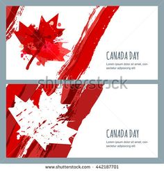 vector watercolor banners and backgrounds. of july happy canada day. watercolor hand drawn canadian flag with maple leaf. design for greeting card holiday banner flyer poster. Holiday Banner, Happy Canada Day, Textured Background, Aesthetic Wallpapers, Vector Free, How To Draw Hands, Royalty Free Stock Photos, Watercolor, Lettering