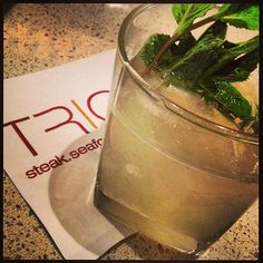 #sxsw official cocktail: the Retox green tea infusion at TRIO at the Four Seasons Hotel (Instagram photo by @lisamattsonwine)