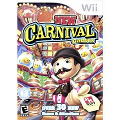 Giveaway - New Carnival Games for the Nintendo Wii with Bonus Wii Motion Plus! Mario Wii Games, Carnival Games Wii, Nintendo Games, 2k Games, Carnival Prizes, Board Games, Xbox Games, Games For Kids, Games To Play