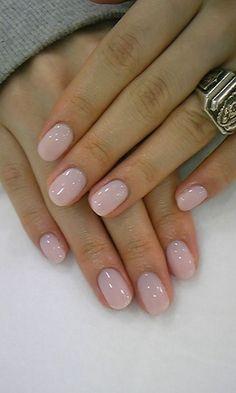 So natural yet so pretty. #lightpink #nails