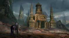 ArtStation - Sorcerer king background art , Tyler edlin