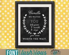 Worth the Wait  DIY Printable Adoption Nursery by FontLushious, $10.00