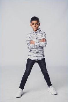 Cristiano Ronaldo shares the spotlight for his latest campaign. The famous soccer player is joined by his son Cristiano Ronaldo Jr. for Denim's… Denim Fashion, Boy Fashion, Cr7 Jr, Young Boys Fashion, Cristiano Ronaldo Junior, Kids Photography Boys, Sports Celebrities, Fashion Labels, Soccer Players