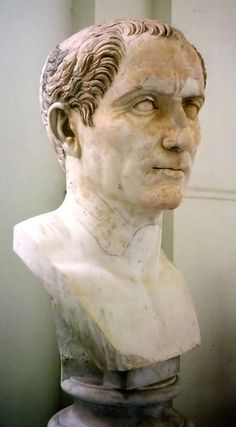 This bust is of Julius Caesar, a Roman general who wanted to change the Republic to a monarchy.