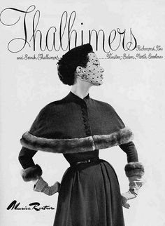 Oh how I want this entire gorgeously elegant 1950s outfit. #vintage #fashion #1950s #fur #ad