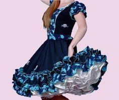 Huasa chilena, Vestidos de china! Pretty Dresses, Beautiful Dresses, Petticoats, Baby Dress, Vintage Outfits, Disney Princess, How To Wear, Clothes, Fashion