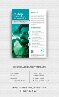 Buy Corporate Flyer by graphix_shiv on GraphicRiver. Corporate Flyer – Features Creative and Minimalist flyer, perfect for any personal or corporate use. It's ideal for a. Brochure Layout, Brochure Design, Brochure Template, Corporate Flyer, Corporate Business, Business Company, Graphic Design Flyer, Flyer Design, Pose