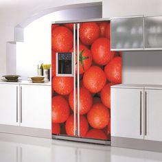Great idea for garage fridge Studio Kitchen, Kitchen Reno, Diy Kitchen, Kitchen Walls, Kitchen Ideas, Fridge Decor, Fruit And Veg, Food Design, Interior Design Kitchen