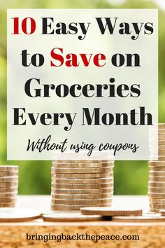 Are you looking for some ways to save money on groceries? If you are trying to save money or need to cut back on your budget, check out these 10 easy ways to save money on groceries. No coupons needed. Best Money Saving Tips, Money Tips, Saving Money, Money Hacks, Save Money On Groceries, Ways To Save Money, Grocery Savings Tips, Grocery Deals, Eat On A Budget
