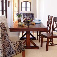 Mahogany Verona Trestle Table | World Market