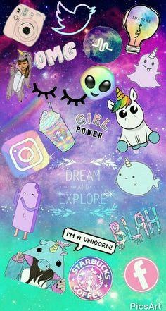 Cute Wallpapers For Phone Unicorn Cartoon Wallpaper, Unicornios Wallpaper, Kawaii Wallpaper, Tumblr Wallpaper, Disney Wallpaper, Galaxy Wallpaper, Black Wallpaper, Wallpapers Tumblr, Aztec Wallpaper