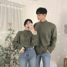 ideas for outfits Matching Couple Outfits, Matching Couples, Cute Couples Goals, Couples In Love, Seoul Fashion, Asian Fashion, Kfashion Ulzzang, Couple Aesthetic, Korean Couple