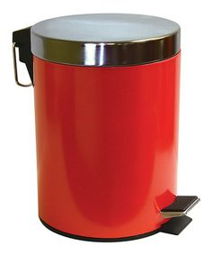 Look what I found on #zulily! Red 5-L Step Waste Bin by Home Collections #zulilyfinds