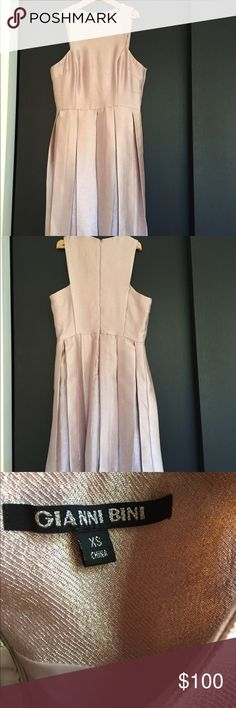 Gianni Bini xs blush dress Only worn once! No damage or flaws. Beautiful blush pink color and perfect to dress up or down! Feel free to offer:) Gianni Bini Dresses Mini