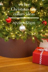 wicker Christmas tree collars ideas-give beauty to your Christmas tree! Tree Collars Are the Christmas Decor You Didn't Know You want. with wicker tree Christmas decorations, your tree will not only be amazing, but it will also be stable. Elegant Christmas Trees, Traditional Christmas Tree, Unique Christmas Trees, Simple Christmas, Christmas Tree Decorations, Christmas Bulbs, Holiday Decor, Modern Christmas, Decorative Rain Barrels