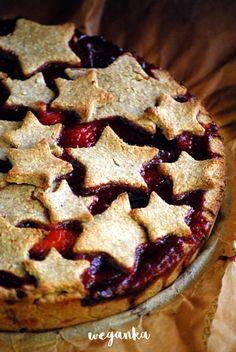 Owsiana tarta ze śliwkami Vegan Christmas, Food Cakes, Vegan Sweets, Cake Recipes, Thanksgiving, Gluten Free, Cooking Recipes, Baking, Healthy
