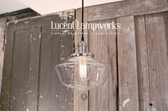 This elegant piece is available in more sizes. Schoolhouse lighting in clear glass transcends the design feel. Love it. US Made. https://www.etsy.com/listing/163916594/schoolhouse-lighting-with-10-clear? Schoolhouse Lighting With 10 Clear Schoolhouse Glass Shade and Exposed