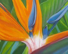 Original Floral Painting by Michelle Angelique Paradise Painting, Birds Of Paradise Plant, Figurative Art, Saatchi Art, Original Paintings, Canvas Art, Floral, Products, Flowers