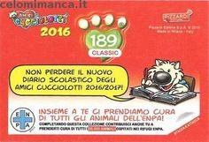 Amici Cucciolotti 2016: Retro Figurina n. 189 Lipote