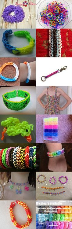 Addiction to Loom Bands!! by TheDaintyBoutique on Etsy--Pinned with TreasuryPin.com