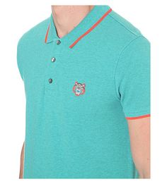 KENZO Embroidered cotton-piqué polo shirt