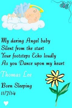 IN LOVING MEMORY GRAVE CARD  BABY BOY/ BLUE born sleeping